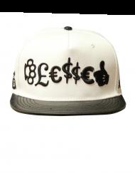 blessed hat white