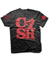 cash t black red glitter