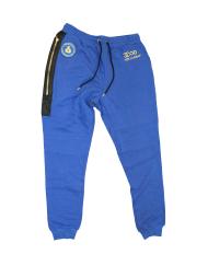 blue sweatsuit