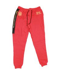 red sweatsuit pants