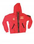 red sweatsuit top